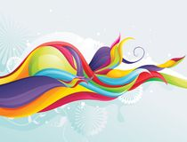 Color wave. Illustration over a texture background Royalty Free Stock Image