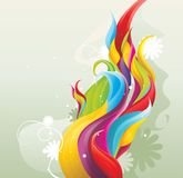 Color wave. Illustration over a texture background Stock Images