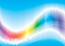 Color Wave. Vector illustration of Rainbow Color Wave background Stock Photo