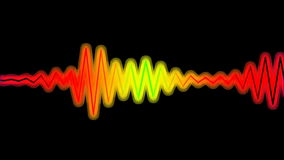 Color wave stock footage