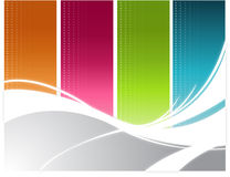 Color wave Background Royalty Free Stock Images