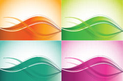 Color wave backgrounds Stock Photography