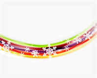 Color wave line with snowflakes, winter vector business template Stock Images