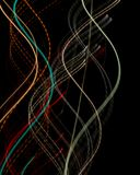 Color wave lines, dna royalty free stock photos