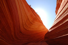 Color at the Wave. The Wave is part of the sandstone formation in the Coyote Buttes North area of Arizona. The color of the sandstones comes from various iron Stock Photos