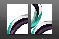 Color waves abstract background geometric A4 business print template Royalty Free Stock Photos