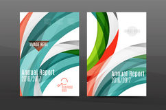 Color waves abstract background geometric A4 business print template Royalty Free Stock Photo