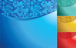 Color waves with mosaic Royalty Free Stock Photography