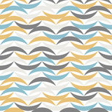Color waves seamless pattern. Abstract background Stock Image