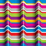 Color waves seamless pattern. Royalty Free Stock Photo