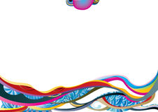 Color waves vector image Royalty Free Stock Images