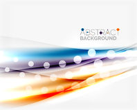 Color wavy lines with light shiny effects. Abstract background template Royalty Free Stock Photo