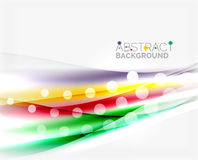 Color wavy lines with light shiny effects. Abstract background template Royalty Free Stock Photography