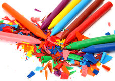 Color wax pencils Royalty Free Stock Photo