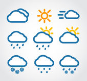 Color Weather conditon icons Stock Image