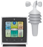 Color Weather Station with Wind Speed Royalty Free Stock Image