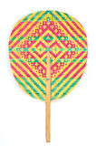 Color weave bamboo traditional hand fan. Royalty Free Stock Image