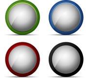 Color web button set Stock Image