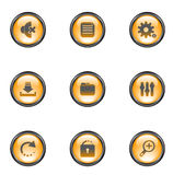 Color web buttons. Vector illustration royalty free illustration