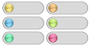 Color web buttons. Vector illustration Royalty Free Stock Photography