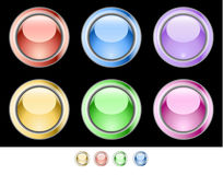 Color web buttons. Vector illustration Royalty Free Stock Photos