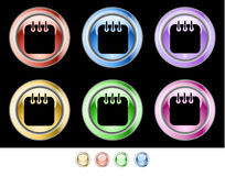 Color web buttons Royalty Free Stock Photography