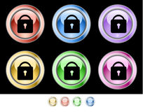 Color web buttons Royalty Free Stock Photos