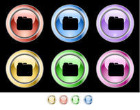 Color web buttons Royalty Free Stock Images