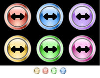 Color web buttons Stock Image