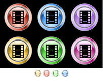 Color web buttons Stock Photography