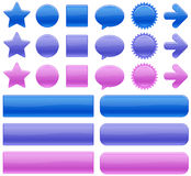 Color web buttons. Shiny web buttons in various colors Stock Images