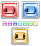 Color web buttons. Royalty Free Stock Photo