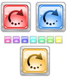 Color web buttons. Color web buttons Vector illustration royalty free illustration