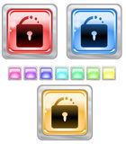 Color web buttons. Color web buttons Vector illustration Royalty Free Stock Images