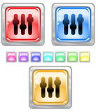 Color web buttons. Color web buttons Vector illustration stock illustration