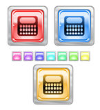 Color web buttons. Color web buttons Vector illustration Stock Photos
