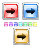 Color web buttons. Color web buttons Vector illustration Royalty Free Stock Image