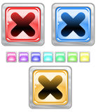 Color web buttons. Color web buttons Vector illustration Stock Images