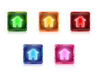 Color web buttons home Royalty Free Stock Images