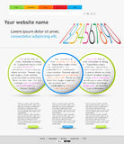 Color web design template Royalty Free Stock Photography