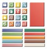 Color web icons Stock Photos