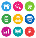 Color web icons Stock Image