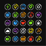 Color web icons Royalty Free Stock Images