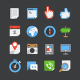 Color web interface icons collection Stock Photo