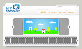 Color web site design photo company Royalty Free Stock Photography
