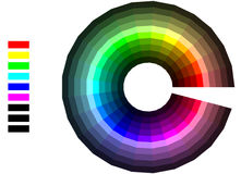 Color wheel. On white background stock illustration