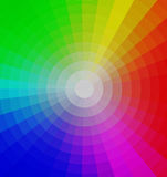 Color wheel. Design of bright colors with a white design forming a tunnel effect Royalty Free Stock Photography