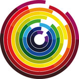 Color wheel. Made in adobe illustrator Royalty Free Stock Photos