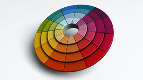 Color wheel. 3d render of a color wheel Stock Photo