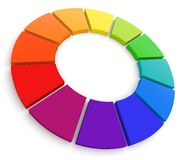 Color Wheel 3D Stock Photos